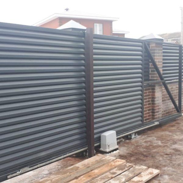 Откатные автоматические ворота, калитка и забор, Высокогорский р-н, РТ