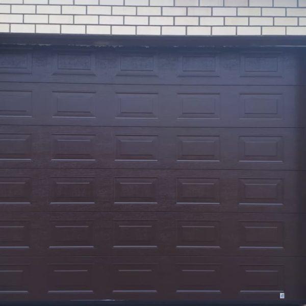 Секционные гаражные ворота, дизайн филенка, Лаишевский р-н, РТ