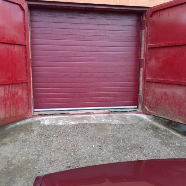 Секционные гаражные ворота с автоматикой DoorHan, пгт. Высокая Гора