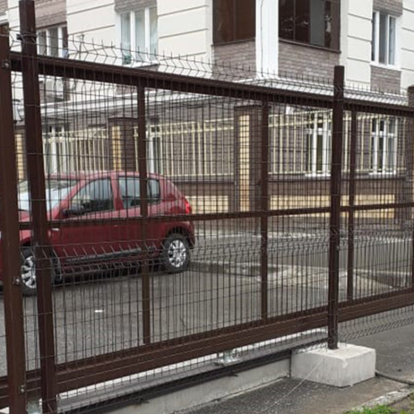 Ворота откатные и забор 3D, калитка, г. Казань